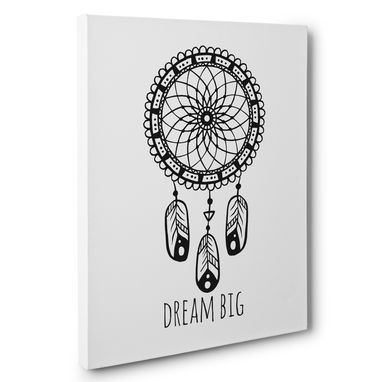 Custom Made Dream Big Dream Catcher Motivational Canvas Wall Art