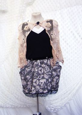Custom Made Arsenic And Old Lace Irish Crochet Capelet