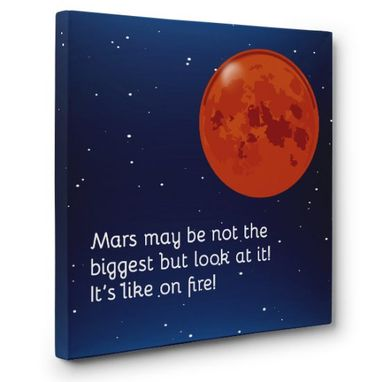 Custom Made Mars Canvas Wall Art