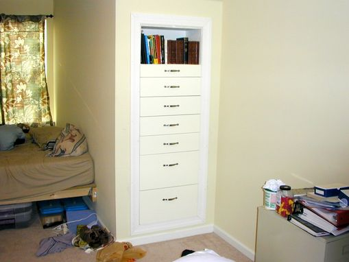 "Custom Made Built-In ""Knee Wall"" Dressers"