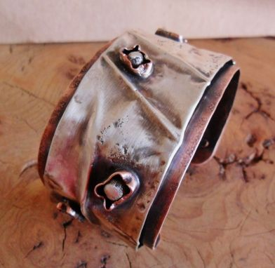 Custom Made Sterling Silver And Copper Cuff Bracelet
