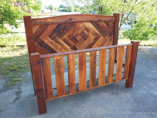 Custom Made Reclaimed Headboard / Footboard Bed