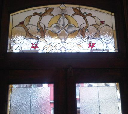 Custom Made Transom Stained Glass Window
