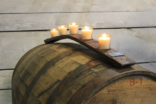 Custom Made Barrel Stave Votive Holder
