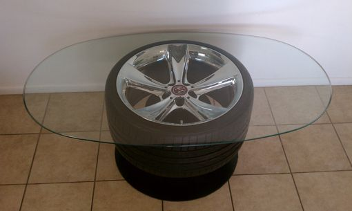Custom Made Artomotive Designs Wheel Tables