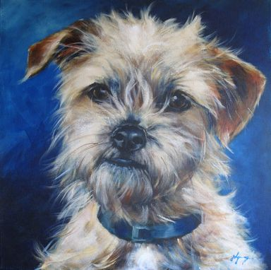 Custom Made Terrier Mix Portrait