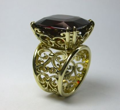 Custom Made Garnet In A Basket....