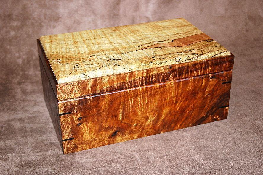 Handmade Figured Koa Spalted Maple Humidor By Carolina