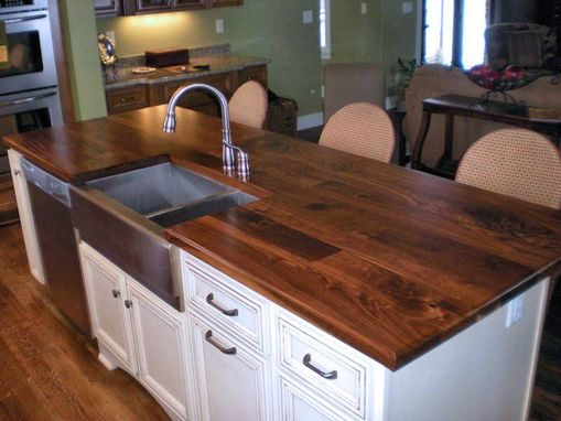 Custom Made Walnut Kitchen Island Top