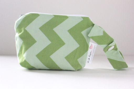 Custom Made Mini Gusseted Messy Bags (Snack Bags) - Green Chevrons