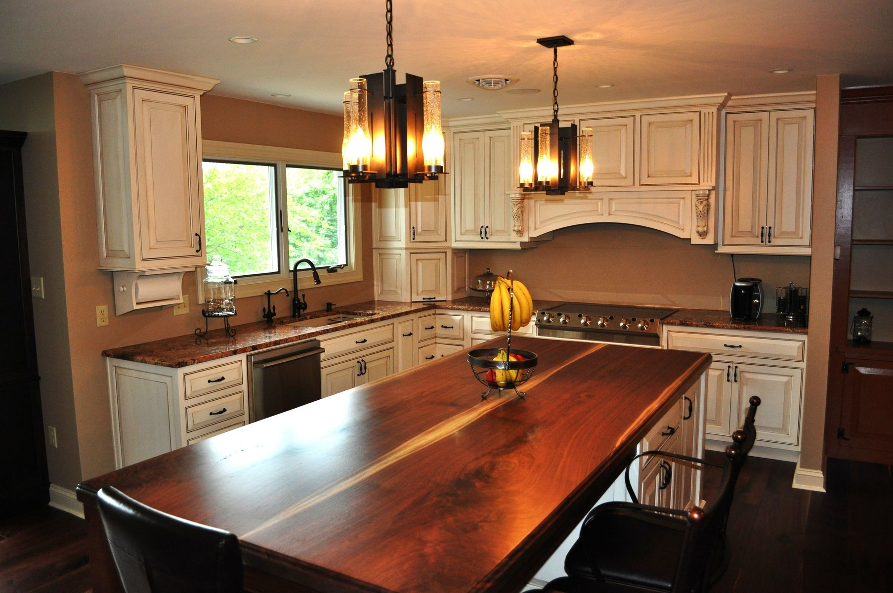 Custom french country style kitchen by london grove for How to style a kitchen