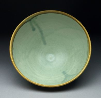 Custom Made Green And Honey Soup Bowl
