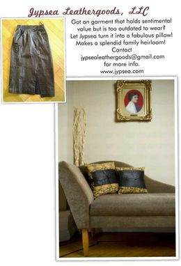 Custom Made Upcycled Throw Pillows From Leather Garments