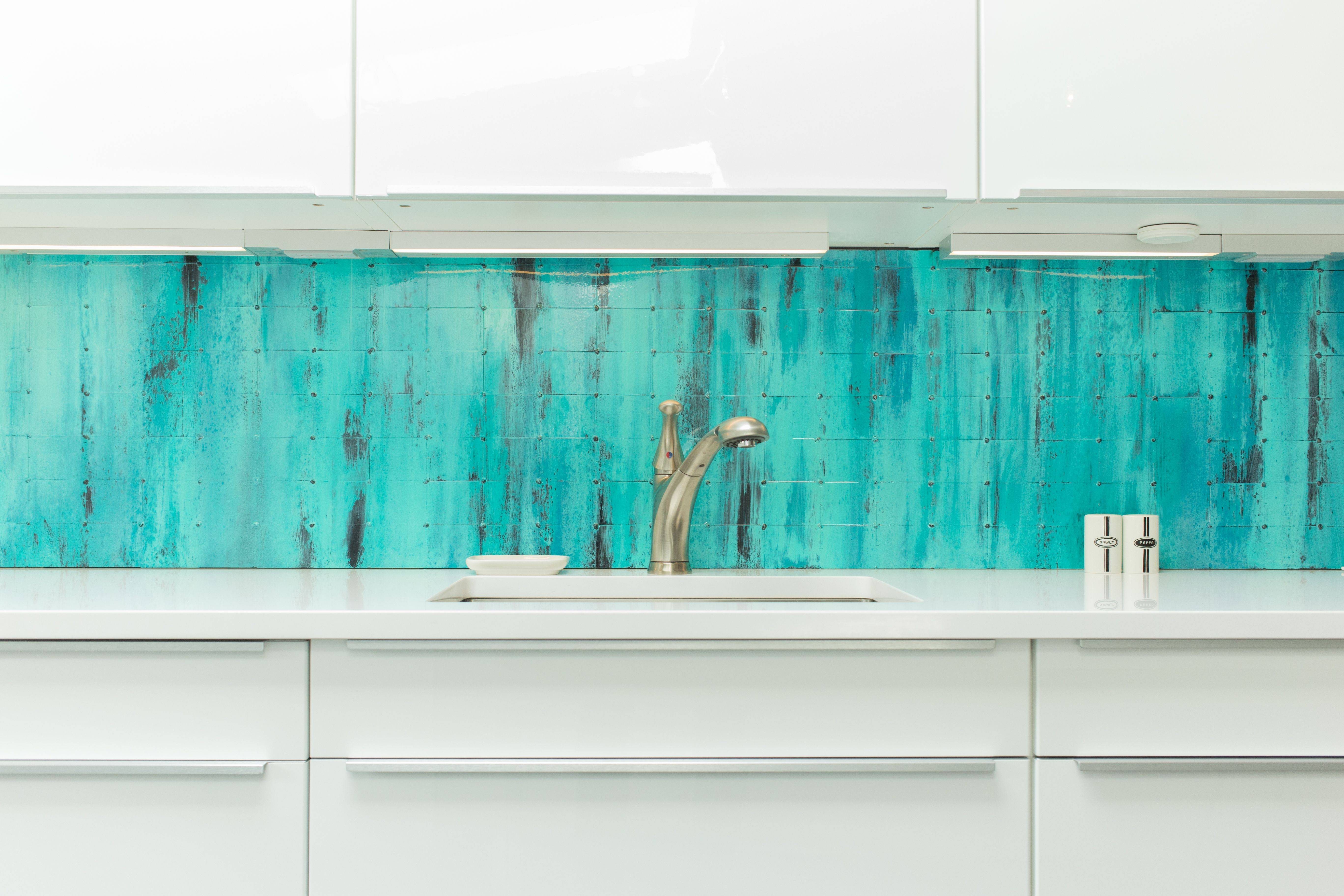 Buy Hand Made Custom Steel Handmade Backsplash Magnetic And Interchangeable To Order From Dangerous Color Custommade Com