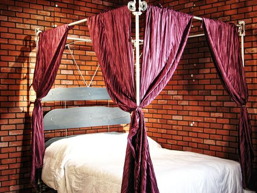 Custom Made Custom Industrial Contemporary Canopy Bed