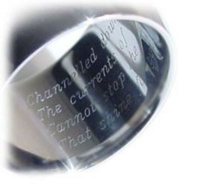 Custom Made Laser Ring Engraving, Original Ring, Special Order, Engraved Ring, Jewelry Designs