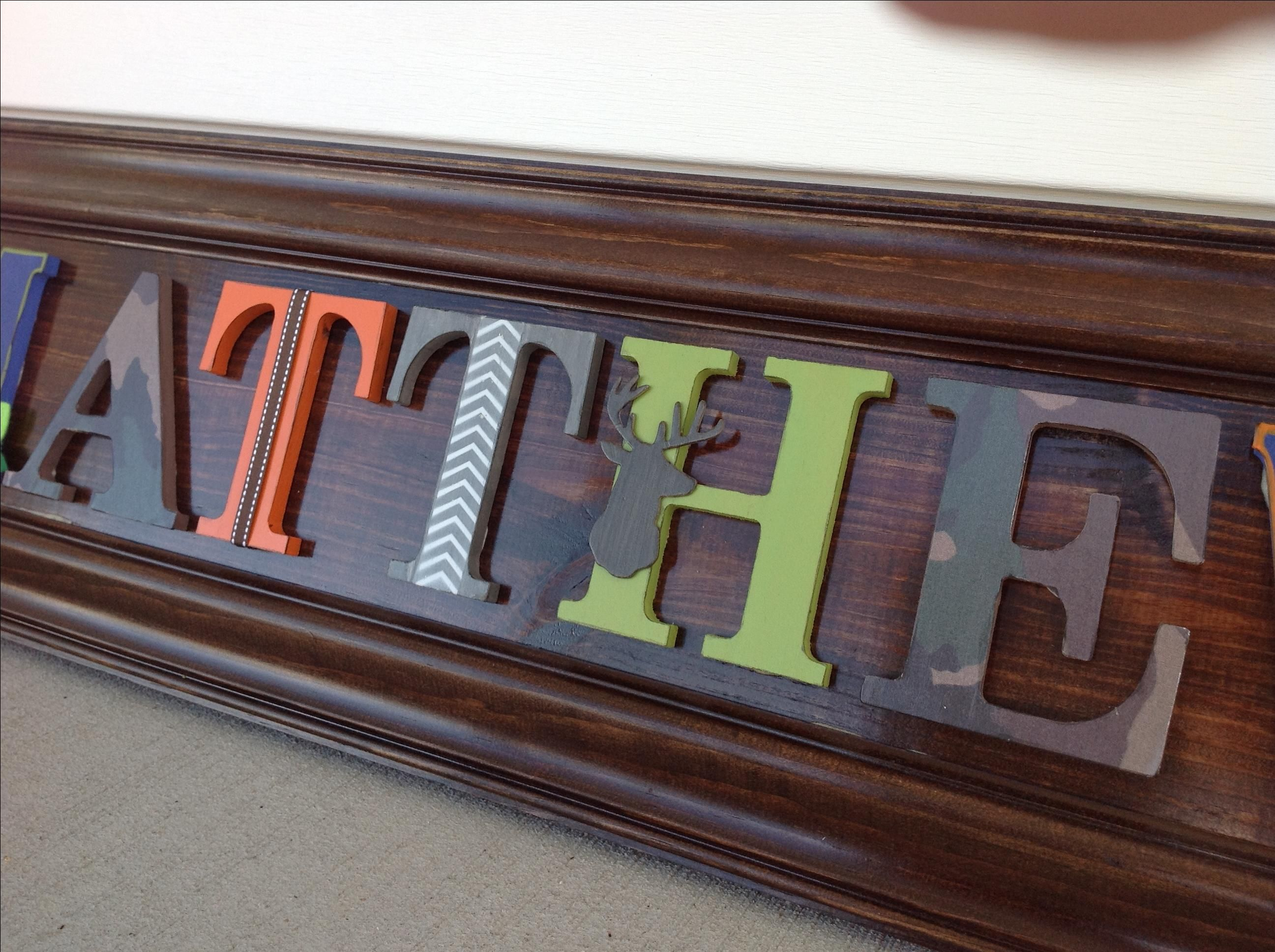 custom wood letters crafted boys room custom wood letter name sign wall 21279
