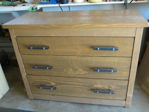 Custom Made Modern Rustic 3 Drawer Dresser