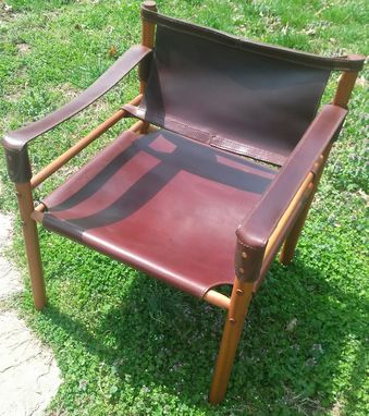 Custom Made Leather Safari Chair