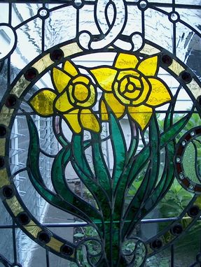 Custom Made Stained Glass Panel - Residential