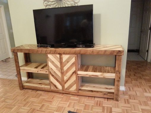 Custom Made Recycled Wood Entertainment Center