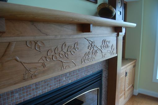 Custom Made Cherry Arts And Crafts Fireplace Mantel
