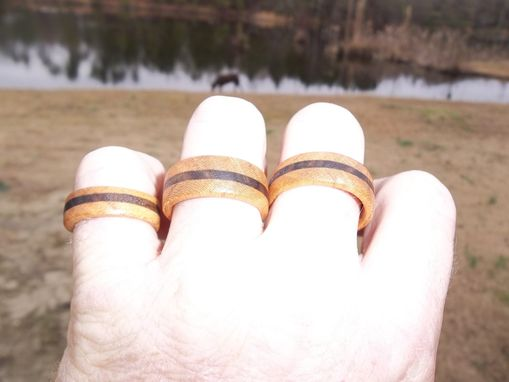 Custom Made Cherry/Walnut Wedding Bands