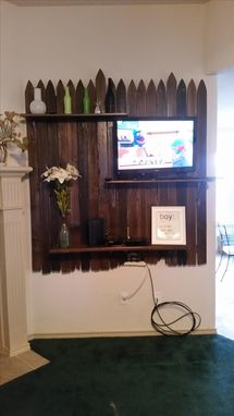 Custom Made Unique Wall Mounted Entertainment Center