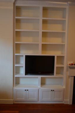 Custom Made Built-In Wall Unit With Fixed Shelves