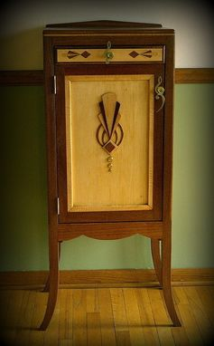 Custom Made A Sheet Music Cabinet With Art Deco Styling And Details