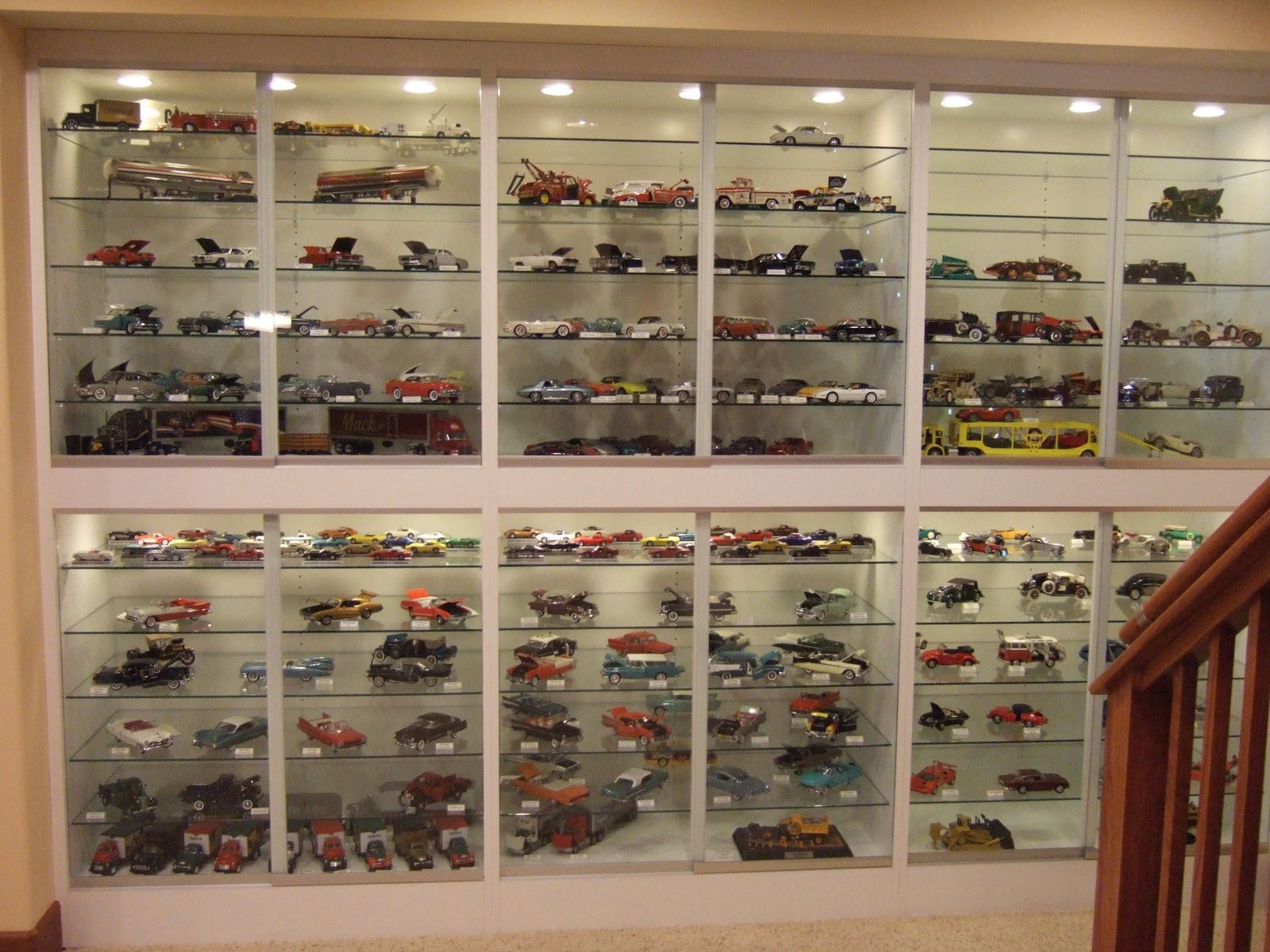 Custom Made Built In Display Cabinets