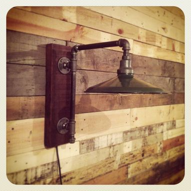 Custom Made Vintage Industrial Enamel Lamp