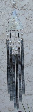 Custom Made Black And Clear Baroque Glass Sun Chime
