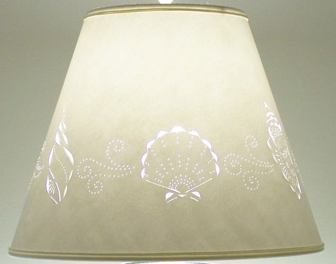Custom Made Cut & Pierced Sea Shell Border Lampshade