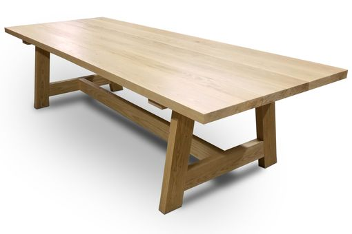 Custom Made Astoria Trestle Dining Table