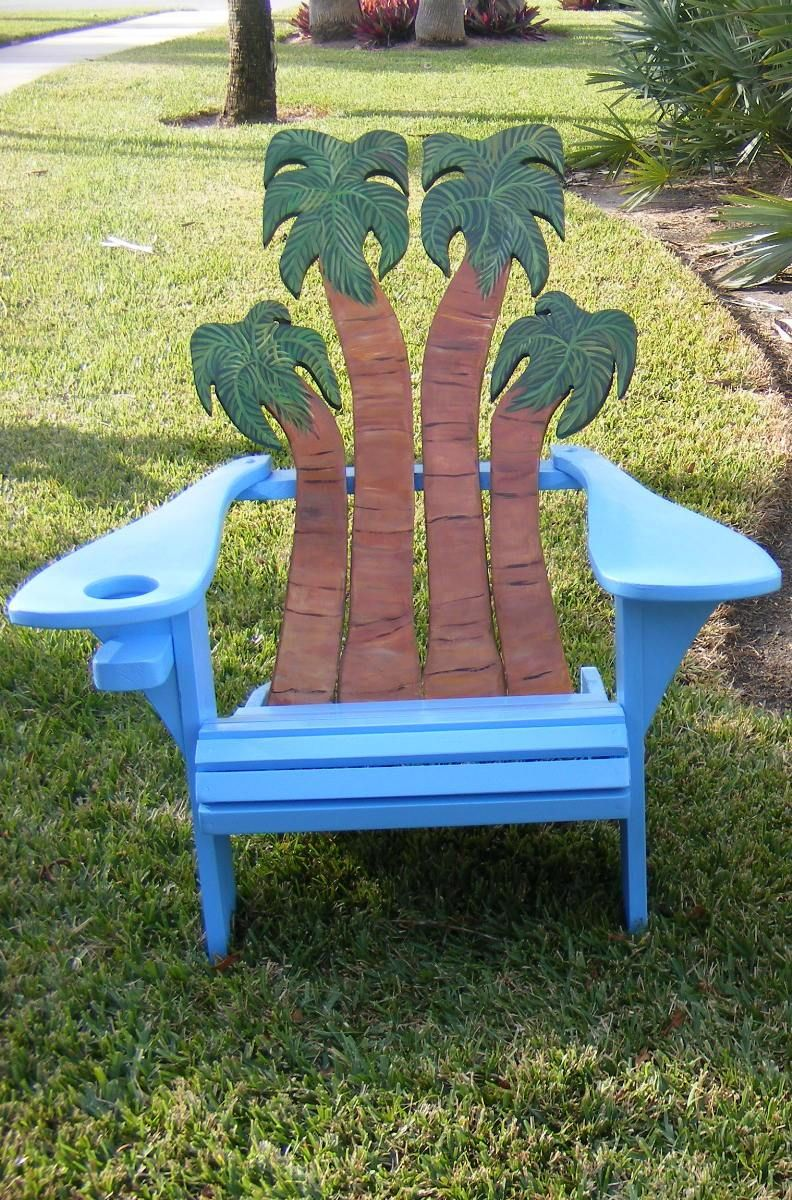 Adirondack chair back slats - Hand Crafted Adirondack Chair Palms Design By Island Time Design Custommade Com