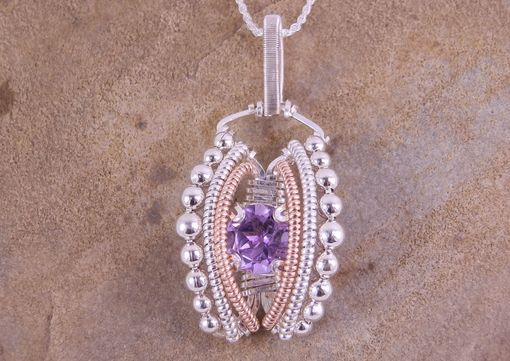 Custom Made Amethyst Wire Wrapped Pendant Hand Made In Choice Of Sterling Silver Fill Or Argentium Sterling