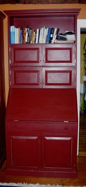 Custom Made Free Standing Reproduction Secretary, And Built Ins For 1740 Cape