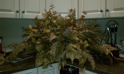 Custom Made Large Wicker Baskets Filled With Greenery