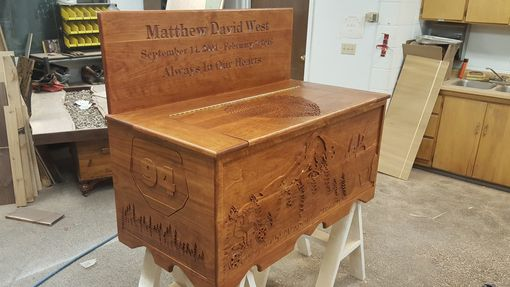 Custom Made Custom Carved Hope Chests