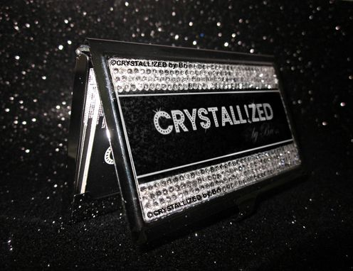 Custom Made Crystallized Custom Business Card Holder Made With Swarovski Crystals