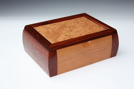 Custom Made Cherry Burl And Paduak Jewelry Box