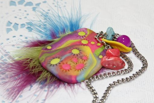 Custom Made Mashia Artist Collection - Paradise - Unique Pendant Crafted In Polymer Clay