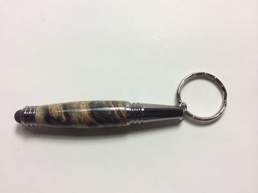 Custom Made Beautiful Buckeye Burl Keychain Stylus/Pen