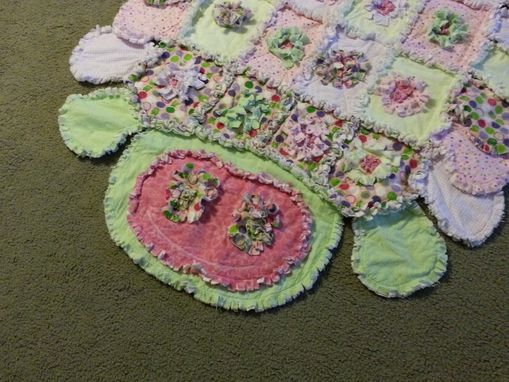 Custom Made Caterpillar Shaped Rag Quilt