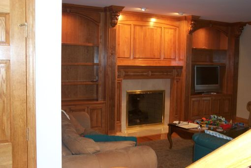 Custom Made Custom Alder Entertainment Center Withmantle Surround