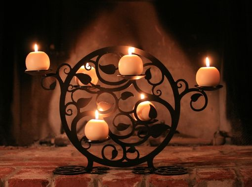 Custom Made Circular Vine Candle Holder