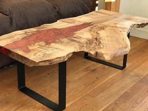 Custom Made Live Edge Maple Resin Table