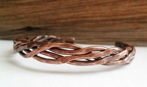 Custom Made Unisex Copper Woven Cuff Bracelet