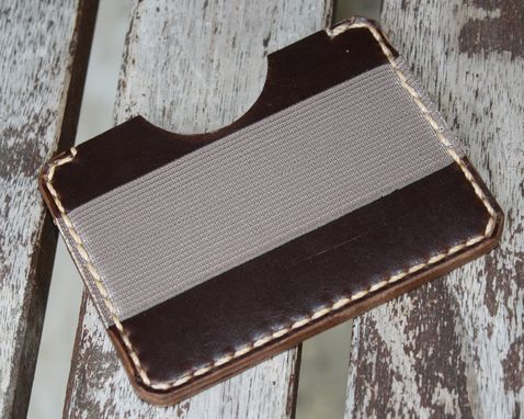 Custom Made Handmade Leather Parvus Wallet Brown Chromexcel W/ Money Band
